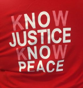 TShirt Know Justice Know Peace