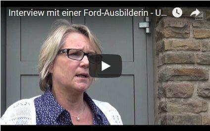 Screenshot Interview mit einer Ford-Ausbilderin